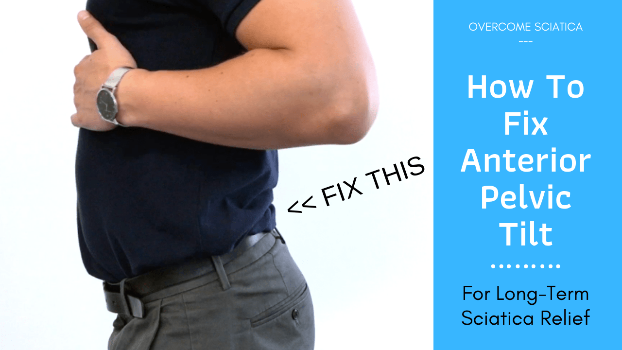 Fix an anterior pelvic tilt for back pain and sciatica relief